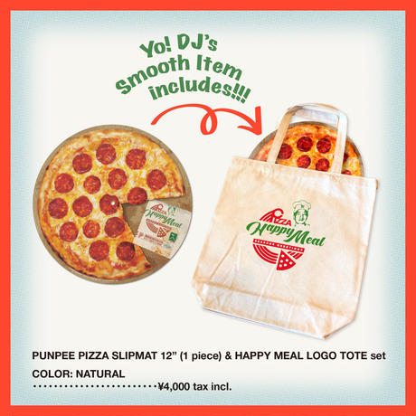 "PUNPEE ""PIZZA SLIPMAT 12"" (1piece) & HAPPY MEAL TOTE"" set"