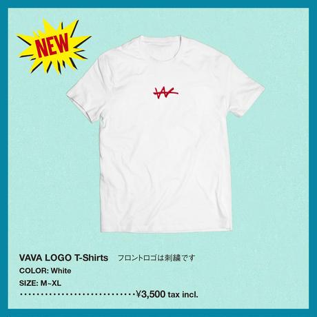 VaVa Logo刺繍 T-Shirts(White×Red)