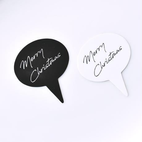 XM002【クリスマスピック・スタンダードシリーズ】Merry Christmas Oval<ホワイト>100枚入り