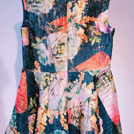 DRESS for NINA going to SUMMER VACATION [NAVY flower print]