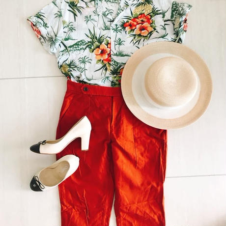 Aloha Shirts[RED Flower] TREND in ASIA selected.