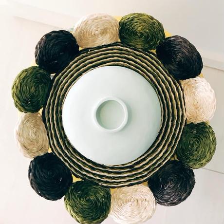 Vietnamese Vessel (Rice bowl) & Raffia Plate [BLUE]