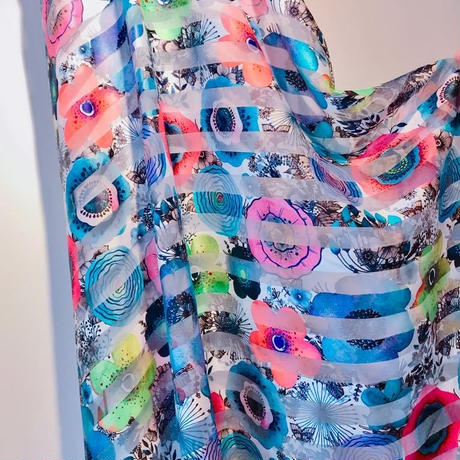 DRESS for ARTIST loving textile fabric [Multi color flower print]