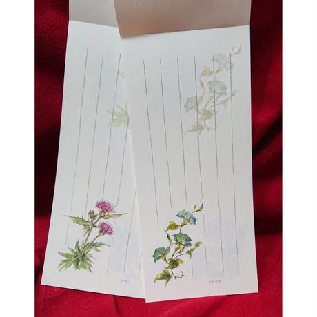 一筆箋「いろふ花々」【No.3209-4342】