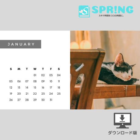 にゃんこ♡カレンダー (2020年1月 )