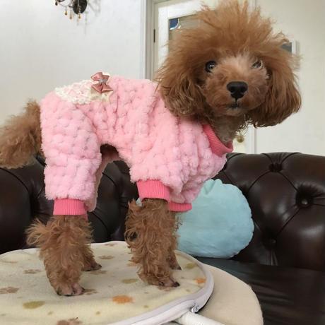 ロンパースパジャマ リボンポッケ ピンク