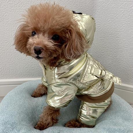 スターの宇宙服ロンパース ゴールド