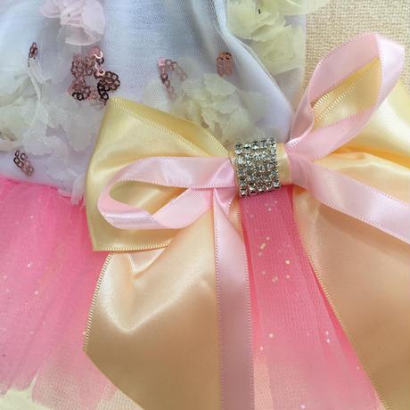 フラワーワンピース ピンク