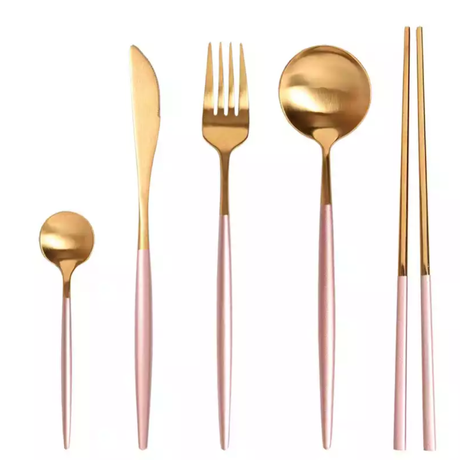 cutlery  4set  【pink gold】