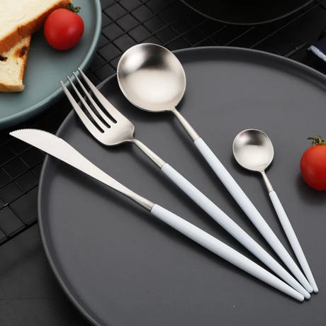 cutlery 4set 【white silver】