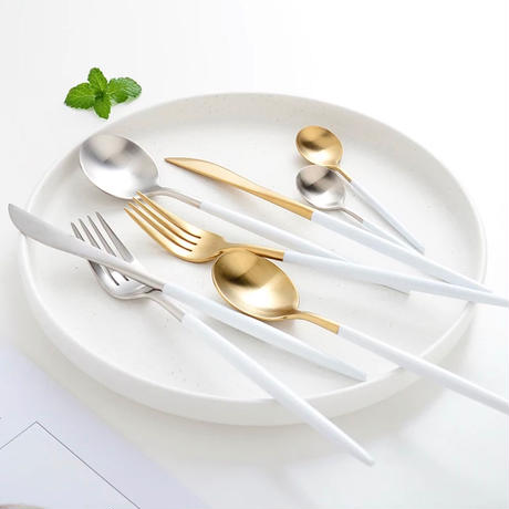 cutlery 4set 【white gold】