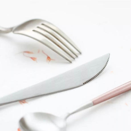 cutlery  4set 【pink silver】