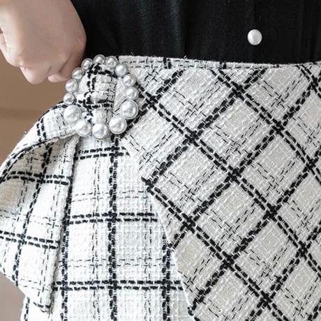 ツイードスカート【2color】