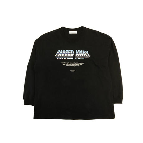 PASSED AWAY OVERSIZED L/S TOP / BLACK