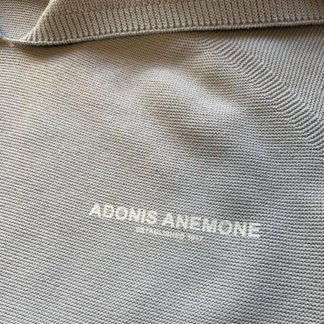 ADONIS ANEMONE KNIT HOODIE / GRAY