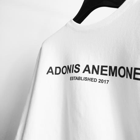 ADONIS ANEMONE LOGO CREWNECK / WHITE