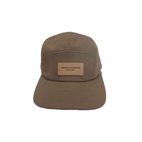 LEATHER LOGO CAMP  CAP