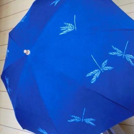 藍 型染め日傘