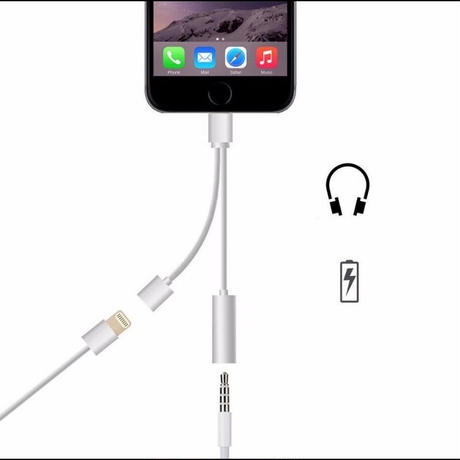 iPhone7 イヤホン変換+充電 2in1ケーブル