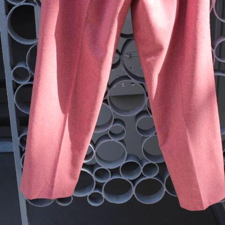 pink wool pants