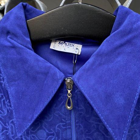 vivid blue jacket shirt