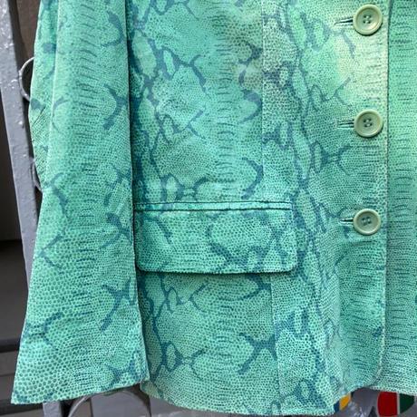 leather snake green jacket