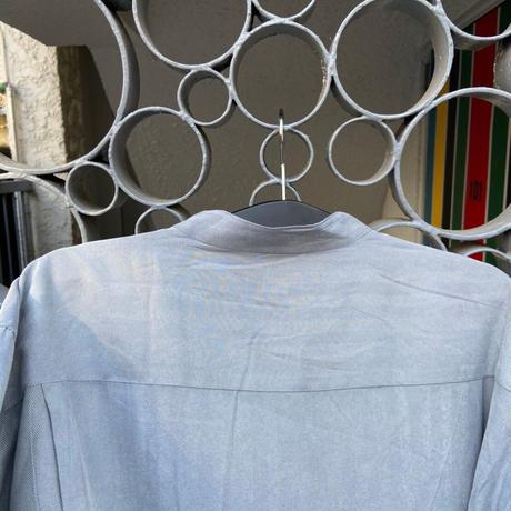 non collar shirt gray
