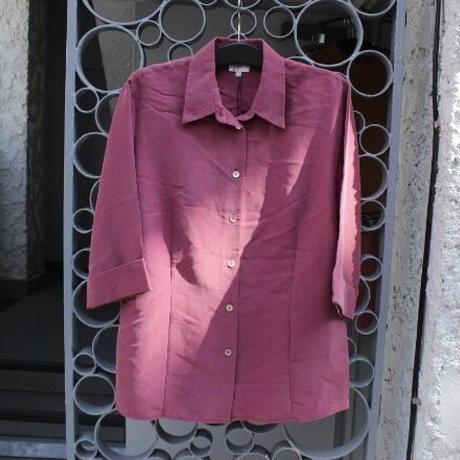 wine red shirt