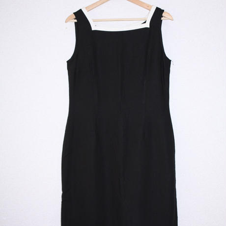 black white line dress