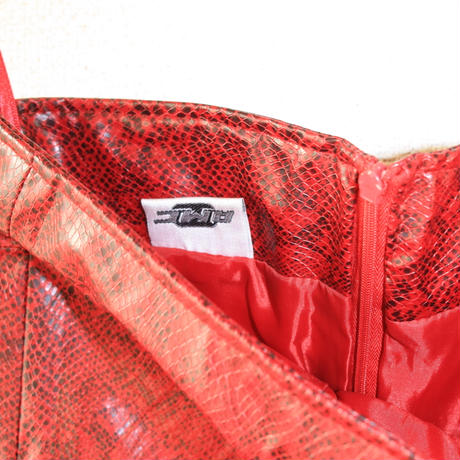 pcv dress red skin style