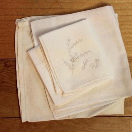 initial sisyu handkerchief 3p set