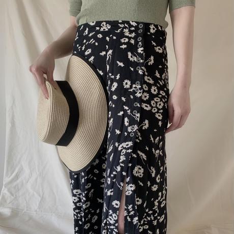 Monotone Flower Skirt (USA vintage)