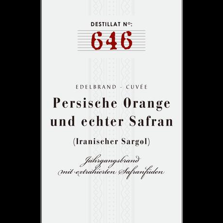 No. 646: Semiramis-Cuvée: Persian Oranges & Saffron