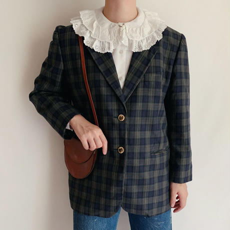 Euro Vintage Plaid  Jacket