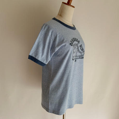 "80's USA Heather Blue "" Screen STARS "" Ringer Tee"
