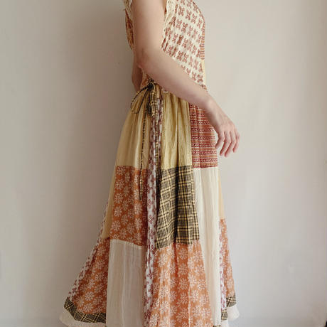 Indian Cotton Patchwork Long Dress