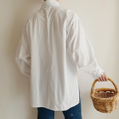 Euro Vintage Cotton Long Shirt