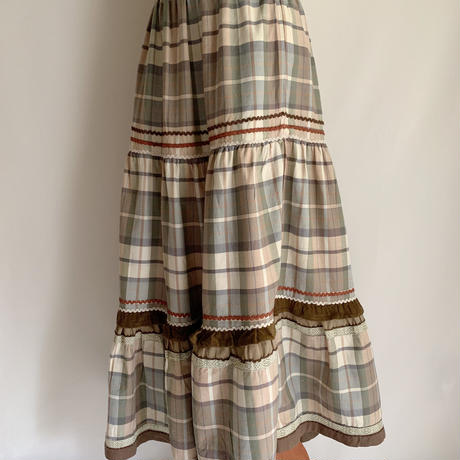 Euro Vintage Tiered Volume Long Skirt