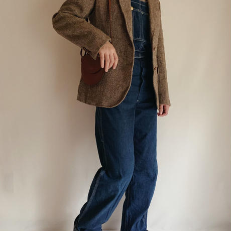 "70's USA "" Harris Tweed "" Herringbone Tailored Jacket"