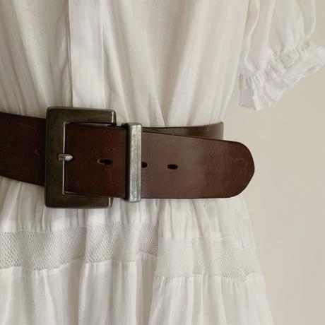 USA Dark Brown Leather Belt