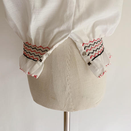 Euro Vintage Hand Embroidery Folk Tunic