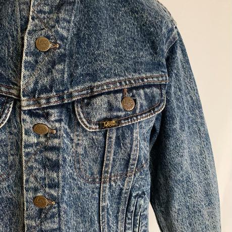 "80's USA "" Lee "" Stone Wash Denim Jacket"