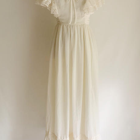 70's USA Maxi Length Dress With Ribbon