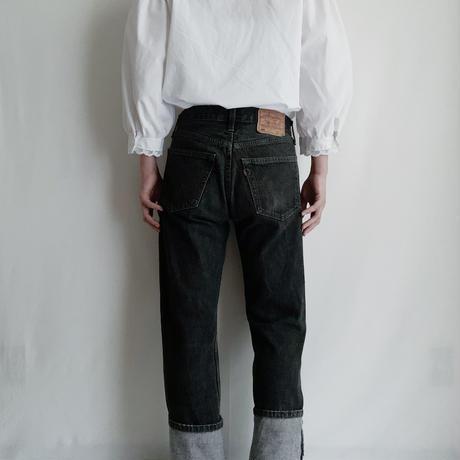 Euro Vintage Stand Collar Volume Sleeve Blouse