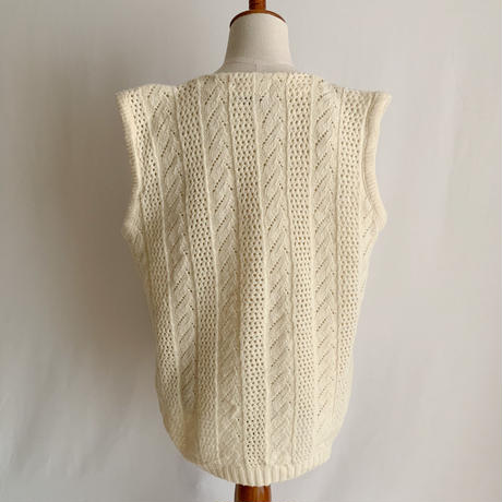 60's -70's USA Knit Vest With two pockets