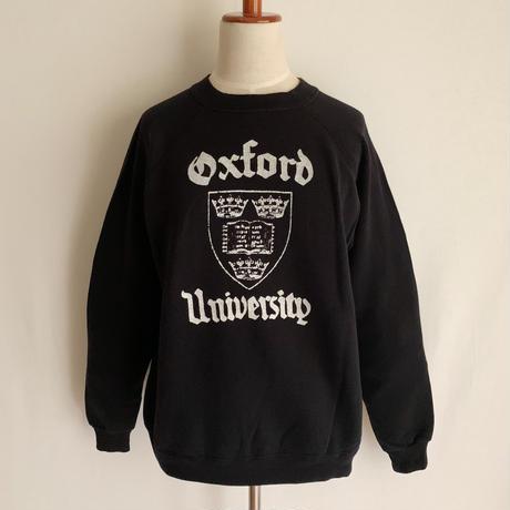 "80's - 90's USA ""Oxford University "" College Printed Sweat Shirt"