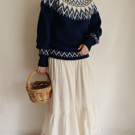60's-70's Nordic Mocneck Knit Sweater