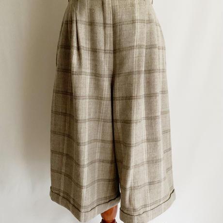 80's Euro Vintage Plaid Wide Silhouette Pants