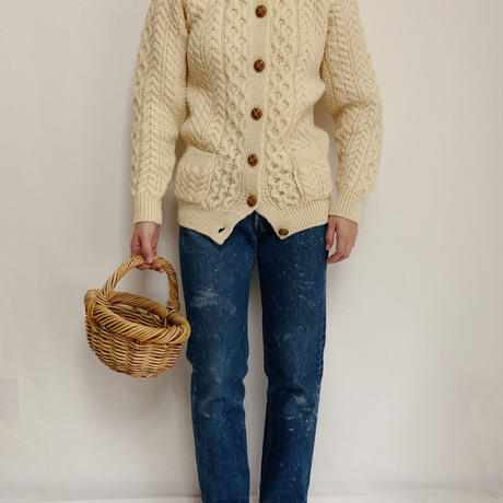 80's-90's Irish Cable Knit Cardigan