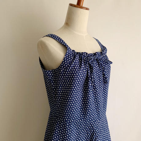 Euro  Vintage Flower Print Camisole Dress